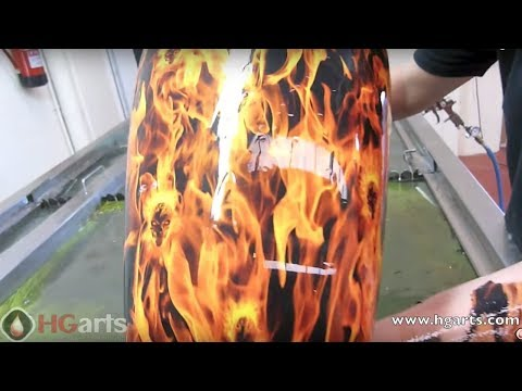 Water Transfer Printing Process - Hydrographics - Wassertransferdruck Motorcycle Industry