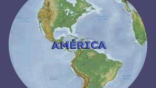Mapas do mundo - Planisfério e continentes