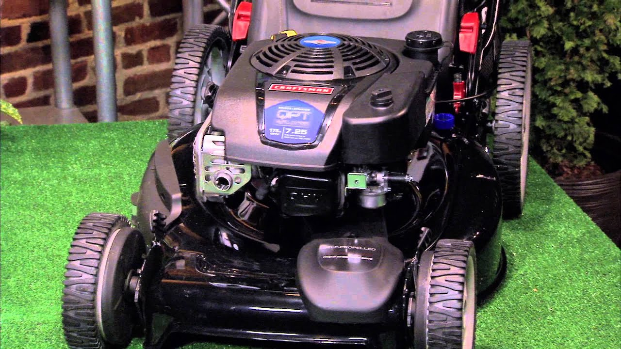 The Craftsman Quiet Front Wheel Drive Lawn Mower Less Noisy Still Ful