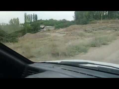 Кызыл-Кия, поездка через Первую Школу, Техникум, Алай завод и Базар Кыргызстан 22.09.2018