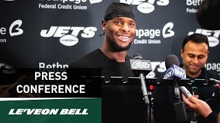Le'Veon Bell Postgame Press Conference | New York Jets vs. New England Patriots (10/21) | NFL