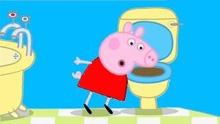 Свинка Пеппа в туалете после плохой шутки с Дорджем Мультфильм хрюша Пеппа ПОСТРАДАЛА