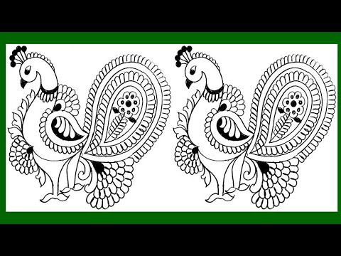 how-to-draw-peacock-with-beautiful-feather-design- -pencil-art