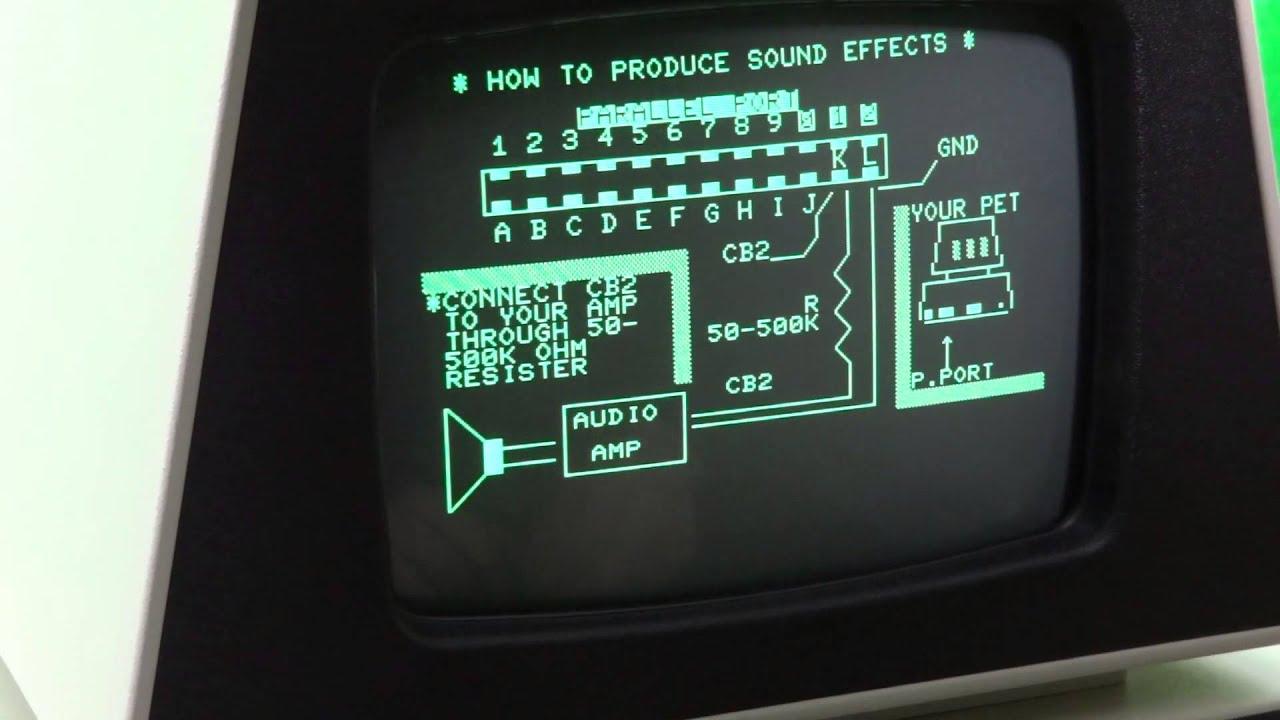 Commodore PET 4032 - YouTube