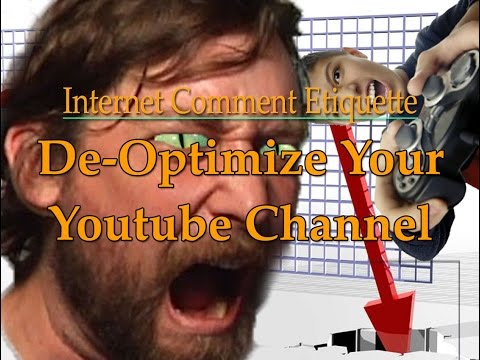 How to De-Optimize Your Youtube Channel