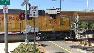 Union Pacific Local Power Move, South Watt Avenue Railroad Crossing