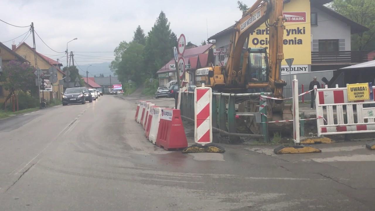 Początek przebudowy skrzyżowania w Świnnej