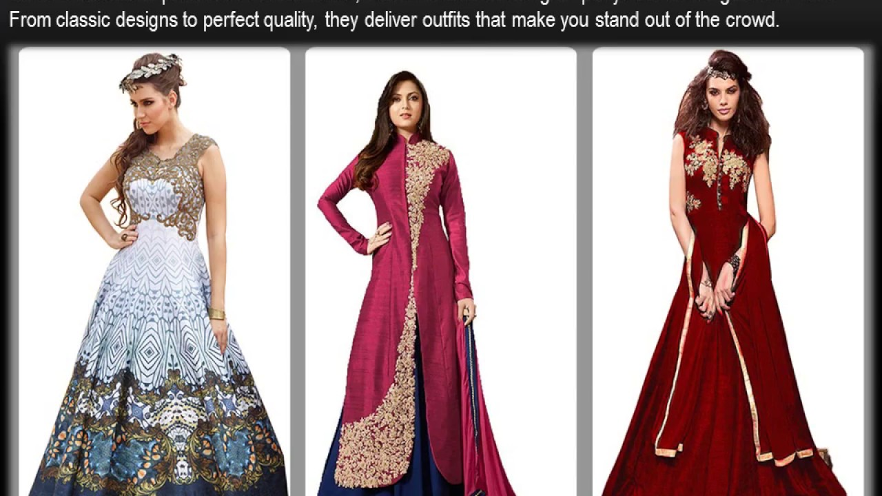Top 5 Websites To Buy Ethnic Gowns For Wedding In India - YouTube
