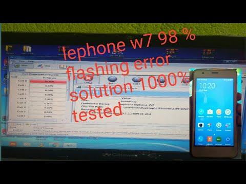 Lephone w7 flashing 98% error solution 100% tested - PakVim