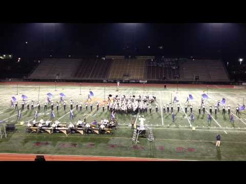 2015 Trumbull High School Marching Band and Color Guard at New England Championships