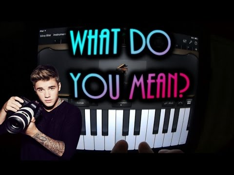 Justin Bieber - What do you mean? (GARAGEBAND TUTORIAL)