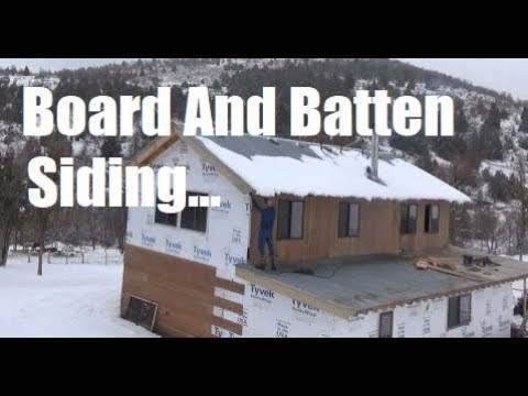 Board And Batted Siding Stain And Install - Doug Fir