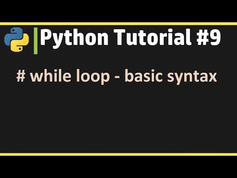 while loop - Python Tutorial #9 thumbnail