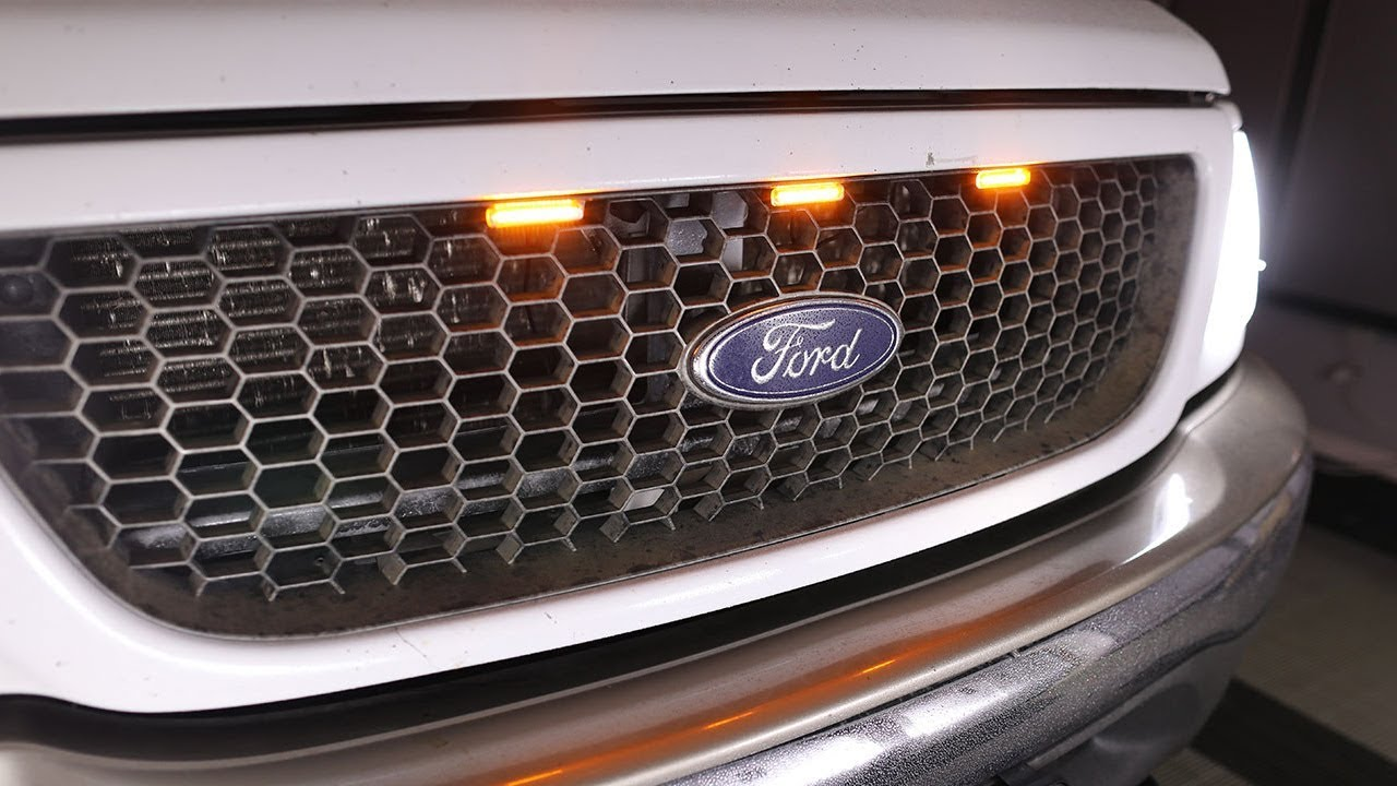 HOW TO INSTALL 1997-03 F150 RAPTOR STYLE LED GRILL LIGHTS ...