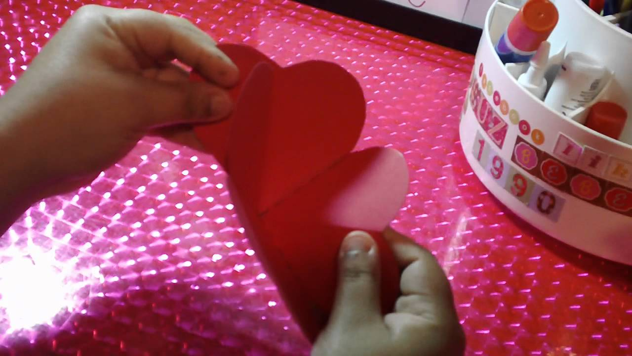 San Valentin Tarjeta Scrapbook Corazon Pop Up Youtube