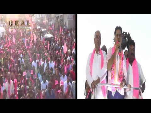 KTR Road Show In | Goshamahal Constituency | Urges Peoples To Vote For TRS | DT News