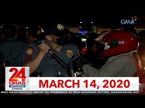 24 Oras Weekend Express: March 14, 2020 [HD]