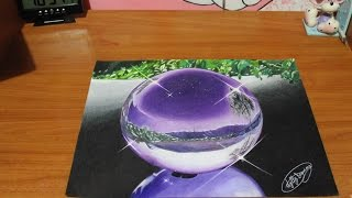 Drawing realistic sphere - how to draw realistic sphere  speed drawing sfera realistica disegno