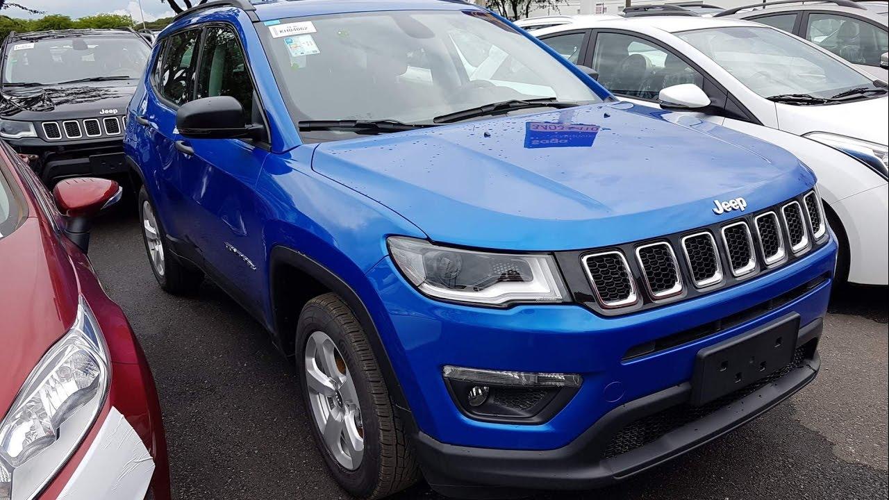Gran Cherokee 2018 >> Jeep Compass 2017 Sport Flex Azul - detalhes, consumo - www.car.blog.br - YouTube