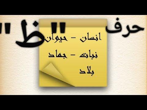 حل لعبة إسم بنت ولد حيوان نبات بلد جماد حرف الظاء ظ Youtube