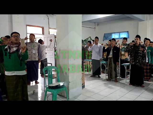 MWC NU Se- Kab. Bandung Barat Menyanyikan Yalal Wathon di Acara Madrasah Kader NU