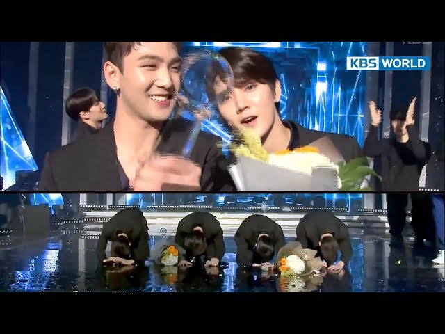 Behind the Scenes of NU'EST W's 'Big Bow' Ceremony (Music Bank 2017.10.20)