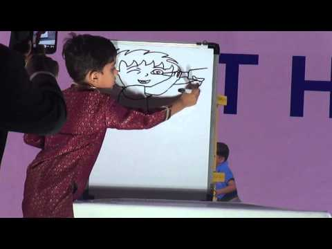 Live Draw By 5 Years Old Monish @ ASIA School Talent Hunt 2014