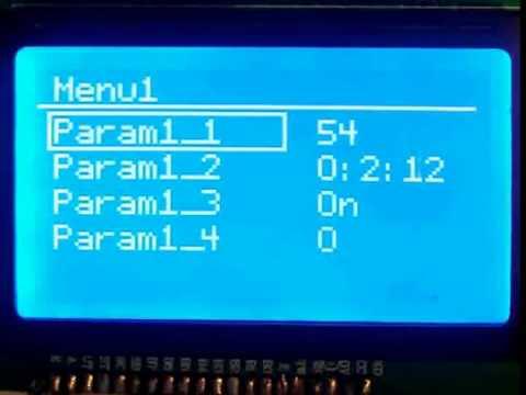 Реализация многоуровневого меню для Arduino с дисплеем