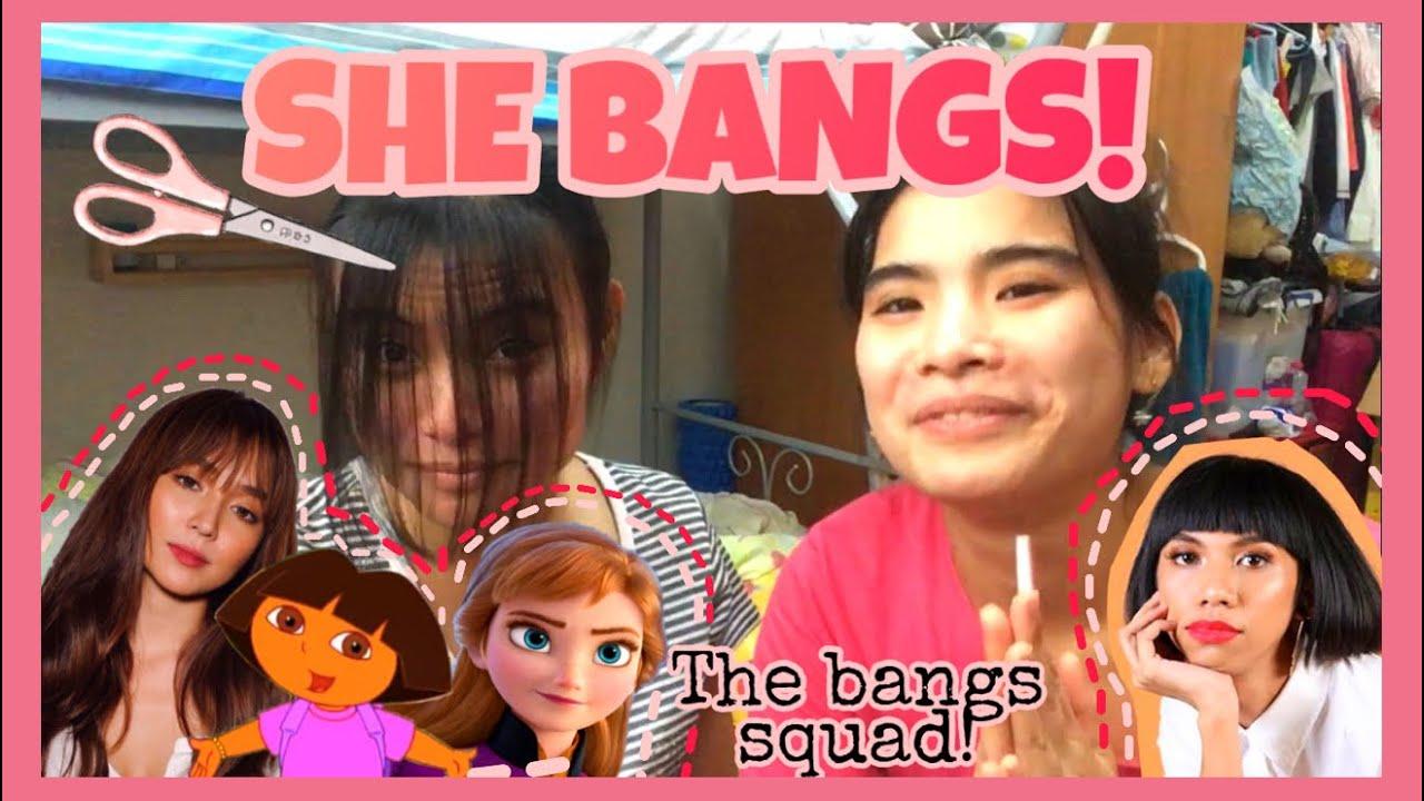 How To Cut Bangs Fringe Bangs Tutorial Kathryn Bernardo Bangs Youtube