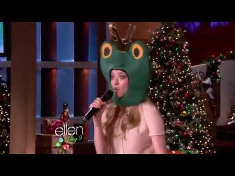 Amanda Seyfried Rapping on Ellen !