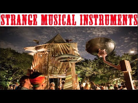 Village of Giant Music Box Houses  -Interactive installation of Musical Instrument Inventions