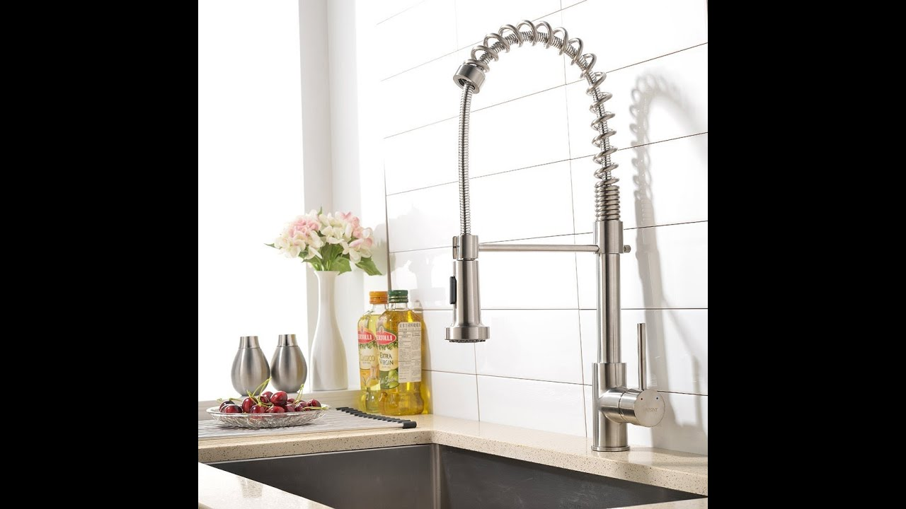 spray with best faucets kitchen down stainless on faucet pull commercials sink steel and