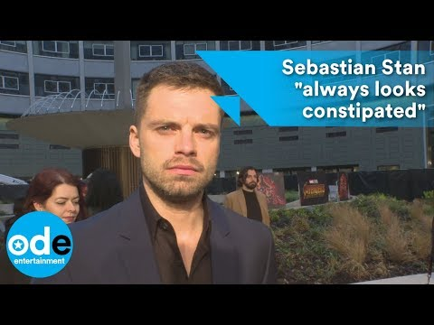 "Avengers: Infinity War: Sebastian Stan ""always looks constipated"""