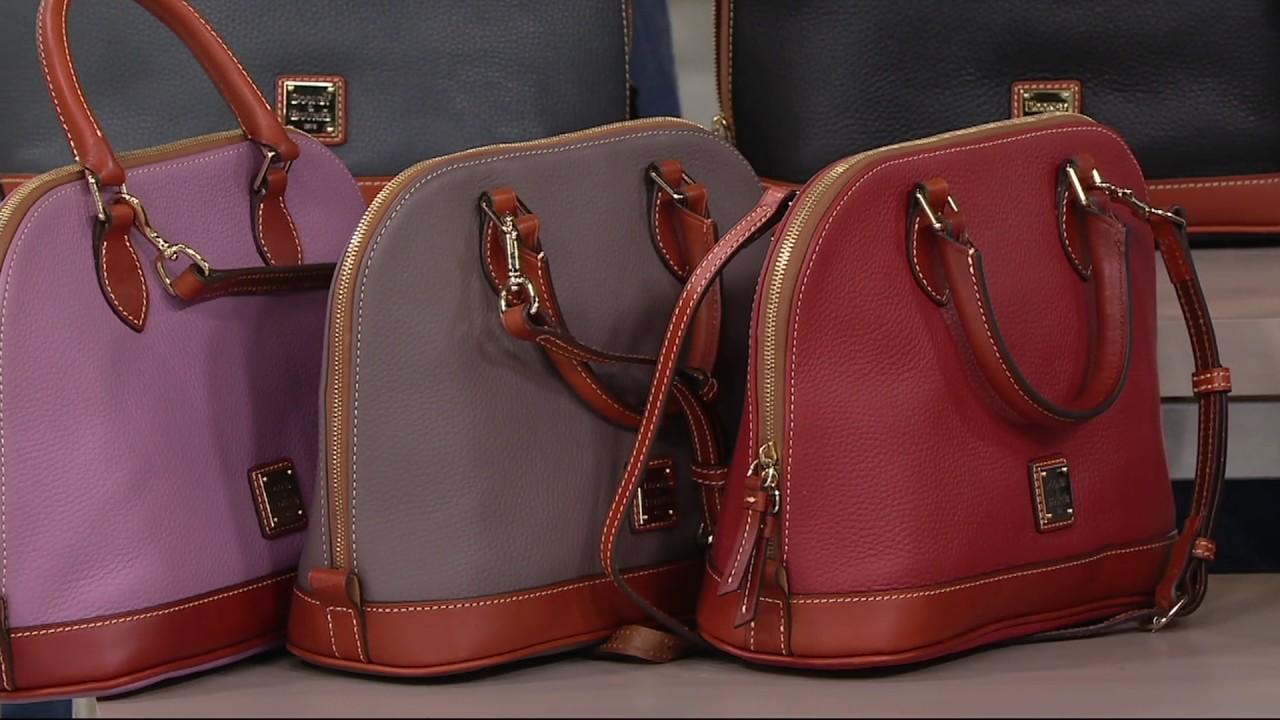 Dooney Bourke Pebble Leather Zip Satchel On Qvc