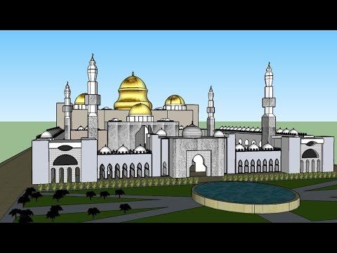 Desain Pagar Masjid Modern Rumah Joglo Limasan Work