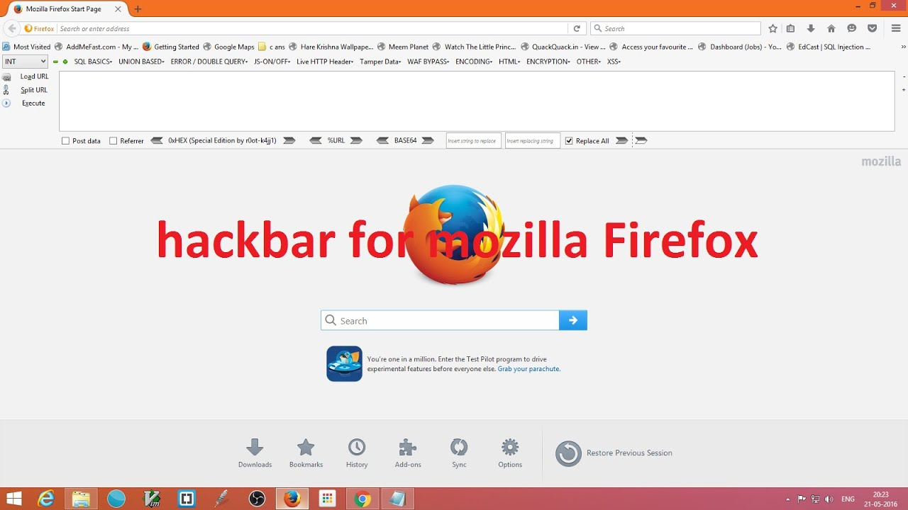 HOW to add full hackbar with addtitional extention in firefox  #sqlinjection_1