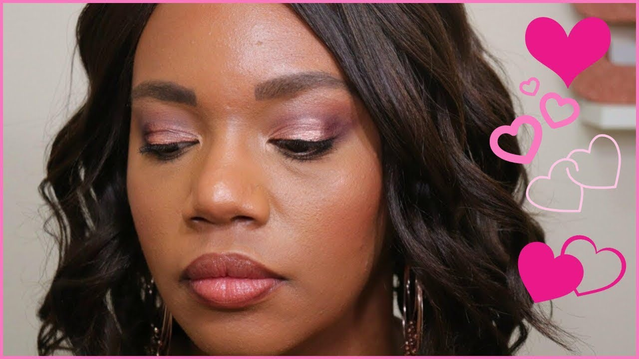 5804f0098 Too early for Valentine's Day Makeup?? Soft Rose Gold Makeup Look for Date  Night!