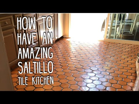 Restoring Hexagon Saltillo Tile Kitchen Floors When They Do Not Get Clean