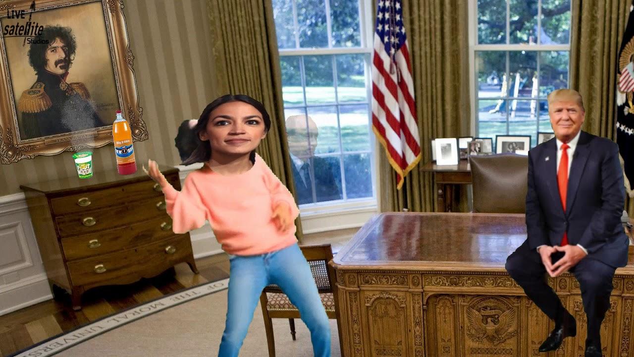 Office in Trump  Oval Alexandria Ocasio-Cortez Dances as