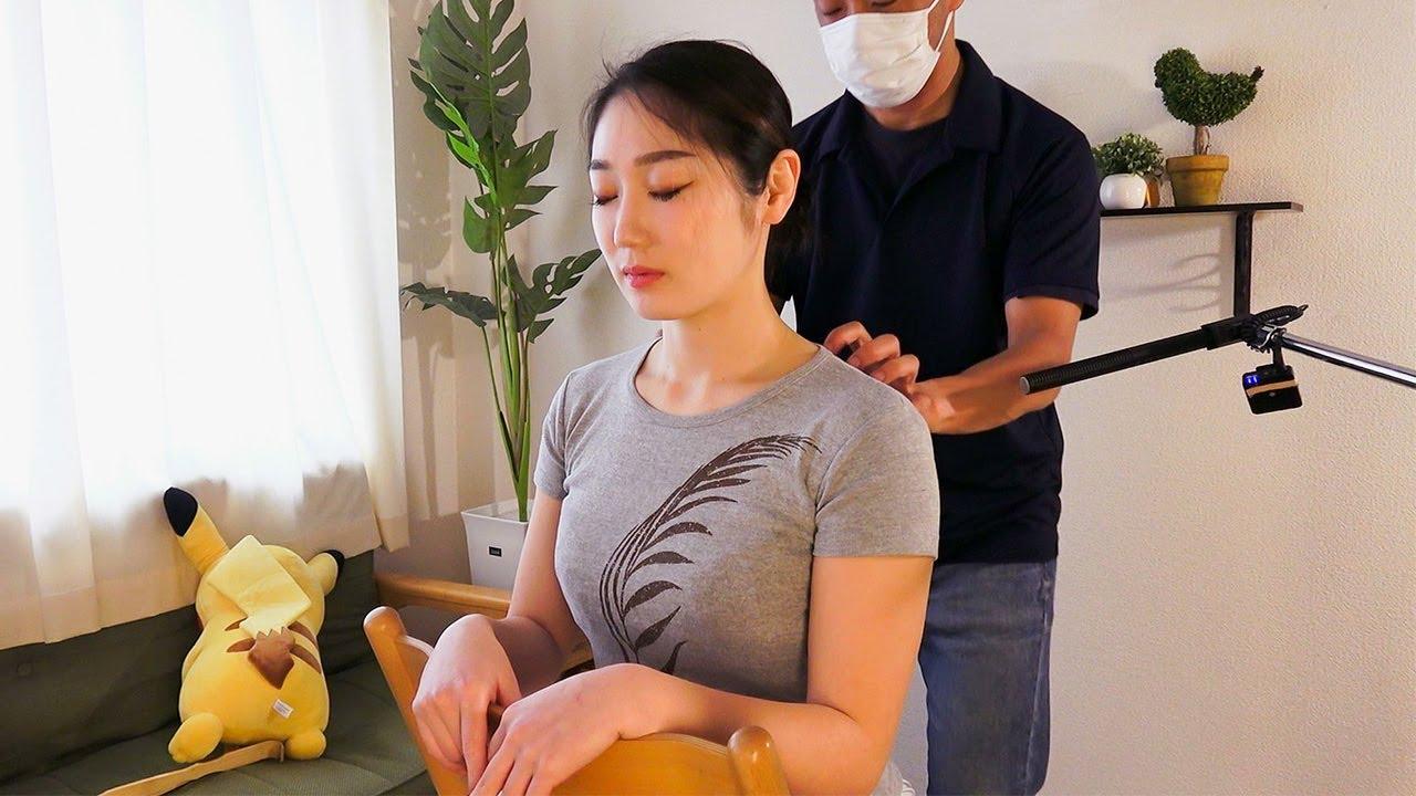 ASMR 全身の力が抜けるスクラッチマッサージ   背中・首・肩・腰
