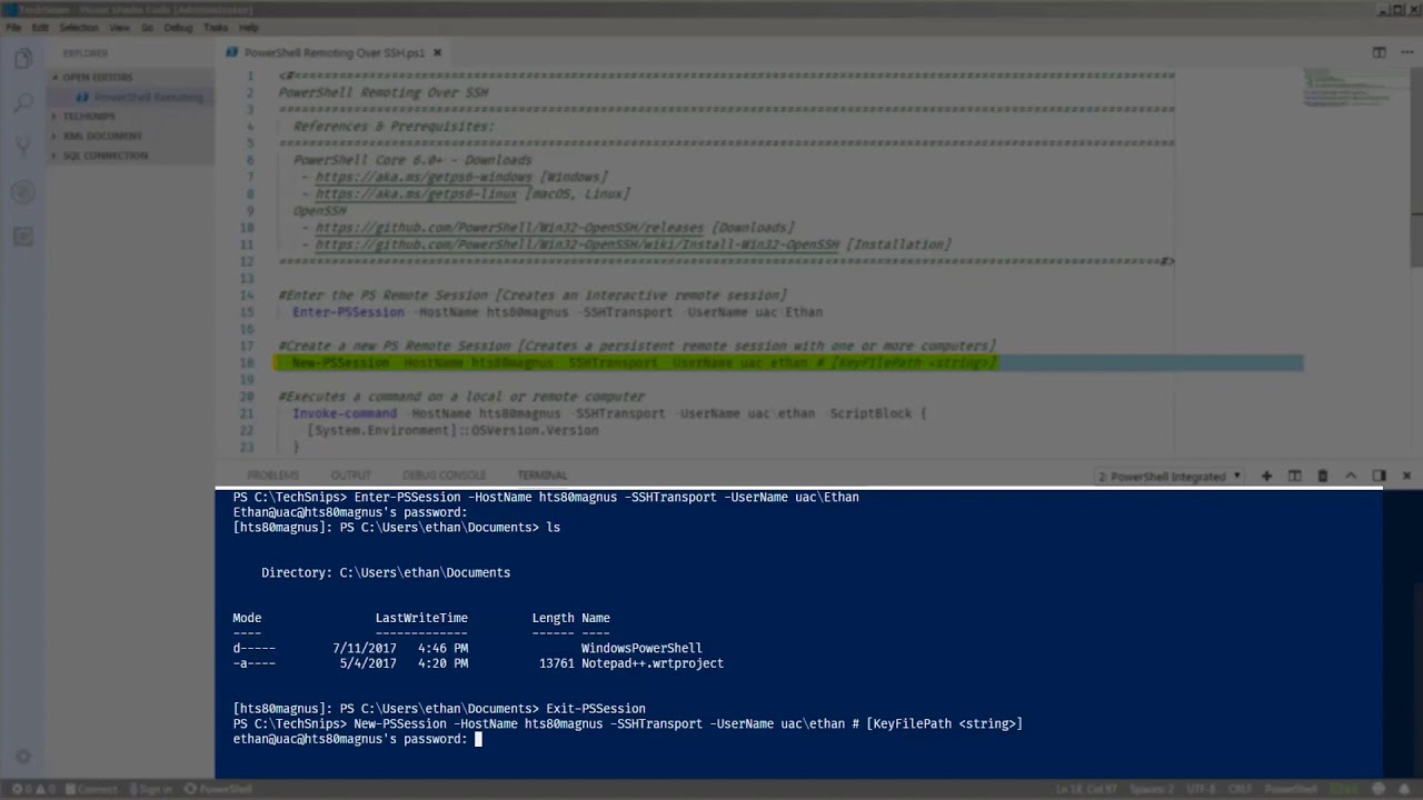 How To Use PowerShell Remoting Over Secure Shell (SSH)