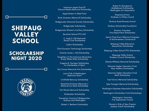 Shepaug Valley School Scholarship Night 2020