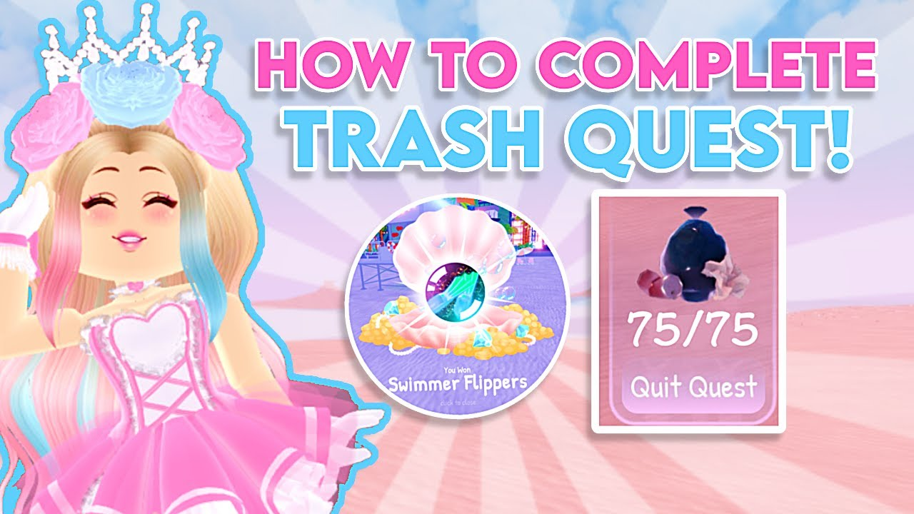 Download *EASY* HOW TO WIN THE TRASH QUEST IN ROYALE HIGH! Royale High Diamond Beach Update Wave 2 Tutorial