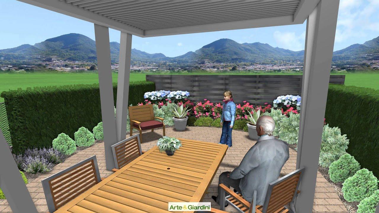 Un giardino con strutture moderne - YouTube