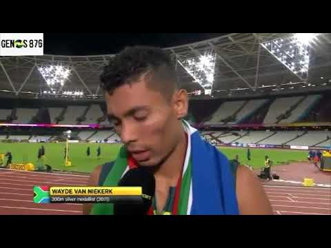 Wayde Van Niekerk Cries Due to Lack of Respect After Winning the 400m & Placing Second in the 200m