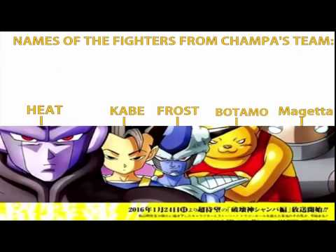 Dragon Ball Super Chapter 7Names Of Universe 6 Fighters
