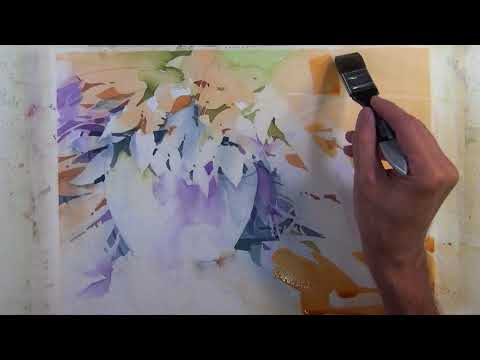 "Transparent Watercolor Step by Step Narrated Tutorial ""Lively Foliage"""