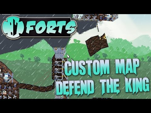 Forts Multiplayer 3v3 Gameplay Custom Map Defend The King, King Of The Hill