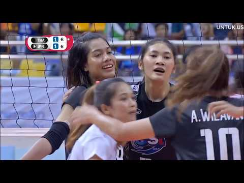 Volleyball SMM 6th AVC CUP FOR WOMEN 2018 - Set 3/4 - Thailand Vs Japan - 17092018