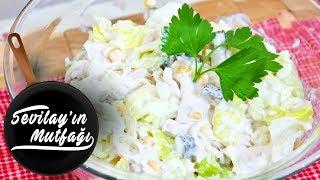 Tavuklu Yoğurtlu Göbek Salatası Nasıl Yapılır? | Yoğurtlu Tavuk Salatası Tarifi
